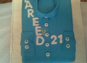 Blue Shirt Cake