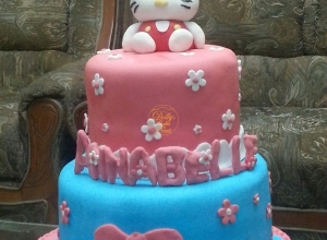 2 Layers Hello Kitty Cake