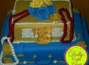 Suitcase with Flower and Bead
