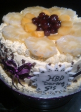 Round Fruit design Cake